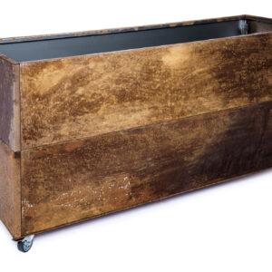 rust højbed på hjul højde 50 cm bredde 40 cm længde 120 cm