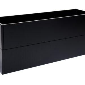 højbed sort højde 50 cm bredde 40 cm længde 120 cm