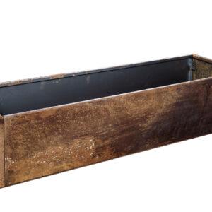 rust højbed med bund højde 25 cm bredde 40 cm længde 120 cm