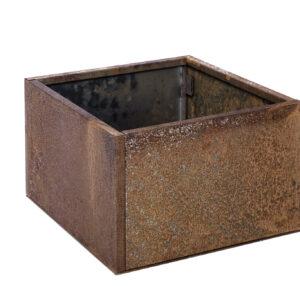 rust højbed med bund højde 25 cm bredde 40 cm længde 40 cm
