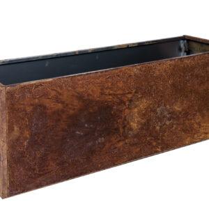 rust højbed med bund højde 40 cm bredde 40 cm længde 120 cm