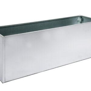 galvaniseret højbed med bund højde 40 cm bredde 40 cm længde 120 cm